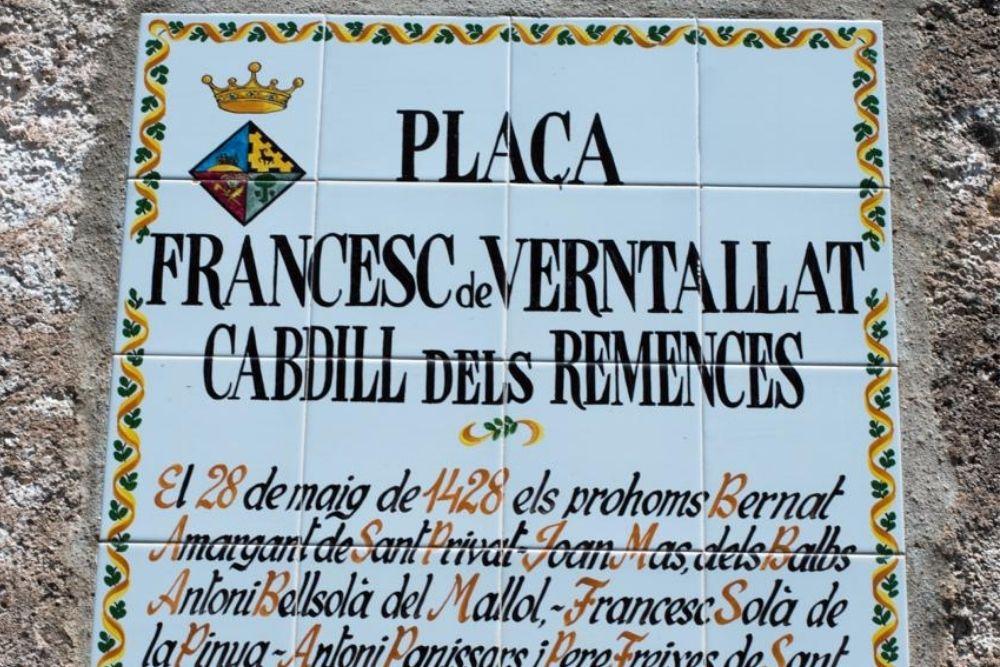 Placa a Francesc de Verntallat